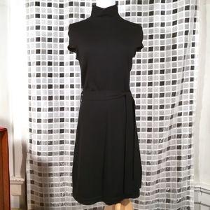 Banana Republic High Collar Black Sweater Dress